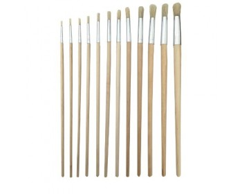 12pc Long Round Artist Brush Set