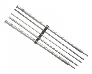 5pc x 600mm Masonry SDS Drill Set (10mm-25mm)