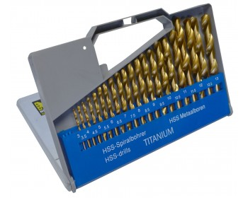 21pc Titanium Drill Set (3-13mm)
