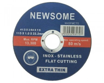 "4 1/2"" Slim Flat Stainless Steel Cutting Disc"