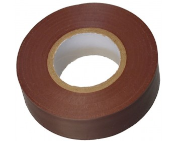 20m x 19mm Brown PVC Electrical Tape