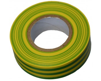 20m x 19mm Yellow/Green PVC Electrical Tape