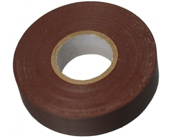 33m x 19mm Brown PVC Electrical Tape