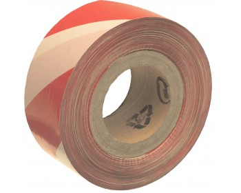 70mm x 500m Red And White Non Adhesive Barrier Tape