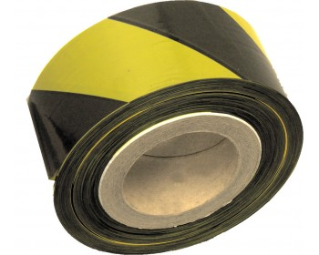 70mm x 500m Yellow And Black Non Adhesive Barrier Tape