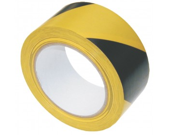50mm x 33m Yellow And Black Adhesive Hazard Tape