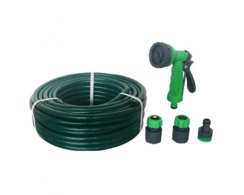 30m Green Reinforced Hosepipe With Fittings