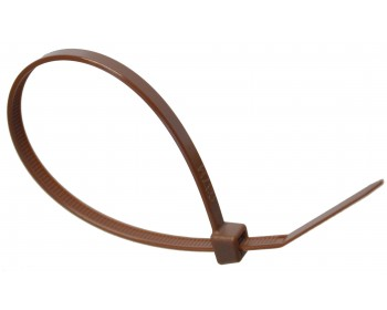 100mm x 2.5mm Brown Cable Ties (100 per pack)