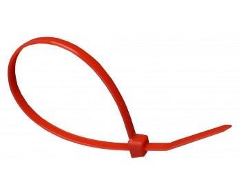 100mm x 2.5mm Red Cable Ties (100 per pack)