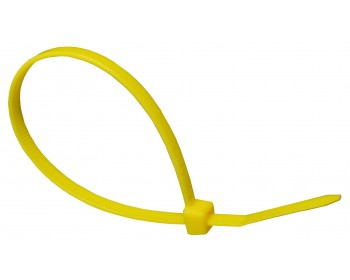 100mm x 2.5mm Yellow Cable Ties (100 per pack)