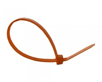 100mm x 2.5mm Orange Cable Ties (100 per pack)