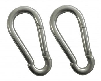 2 x 6mm Zinc Plated Carbide Hooks