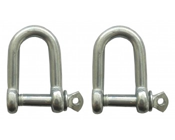 2 x 6mm Hot Galvanised Dee Shackles