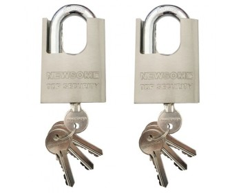 2 x 50mm Protected Shackle Padlocks