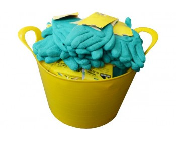 Bucket of Extra Large Green Exra Grip Work Gloves
