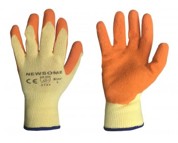 Large Orange Extra Grip Work Gloves