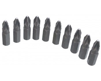 10 x 25mm PZ1 Screwdriver Bits