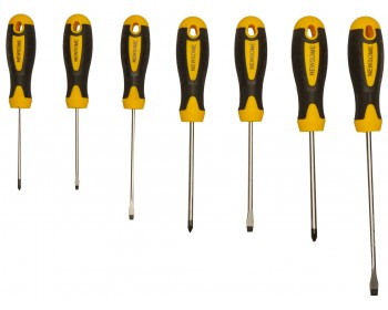 7pc Cushion Grip Screwdriver Set